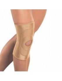 Бандаж на колено с фиксирующей подушкой и отверстием, с ребрами жесткости  RKN-103(M)