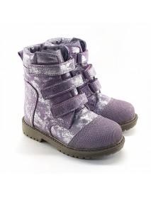 Микки 18 Ботинки зимние (сирень/блеск)