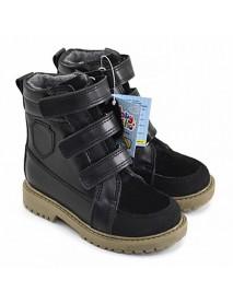 Арни 8 Ботинки детские (черн/черн замша)