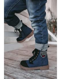 Арчи 3 Ботинки детские (черн с шевроном)