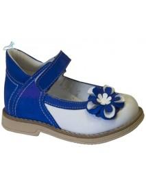 Туфли ортопедические с закрытым носком TW-225-3 (сине-белые)