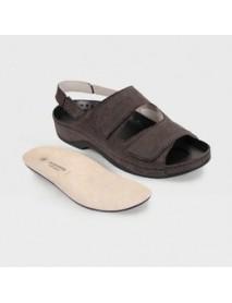 Обувь ортопедическая малосложная(коричневый рептилия) LM-501.1.022