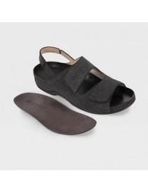 Обувь ортопедическая малосложная(черный рептилия) LM-501.1.021